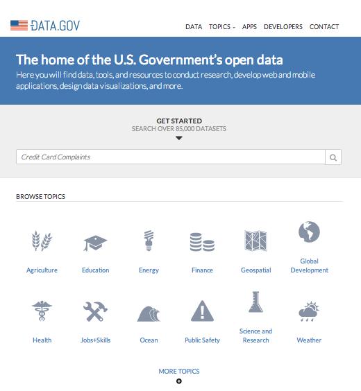 Портал открытых данных США